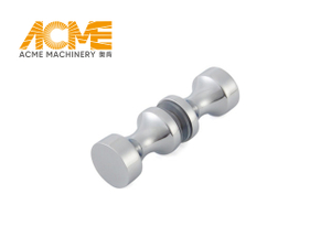 Frameless Sliding Small Polished Chrome Shower Door Knob