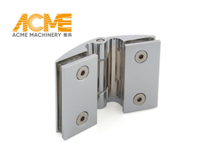 Brass Hydraulic Glass to Glass Shower Door Hinge