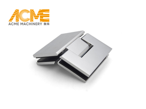 Polished Nickel Glass Shower Door Hinge 135 Degree